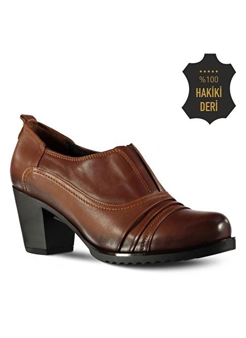 Marjin Topuklu Ayakkabı Taba
